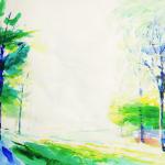 Painting Bluemeaway 50 x 65 cm